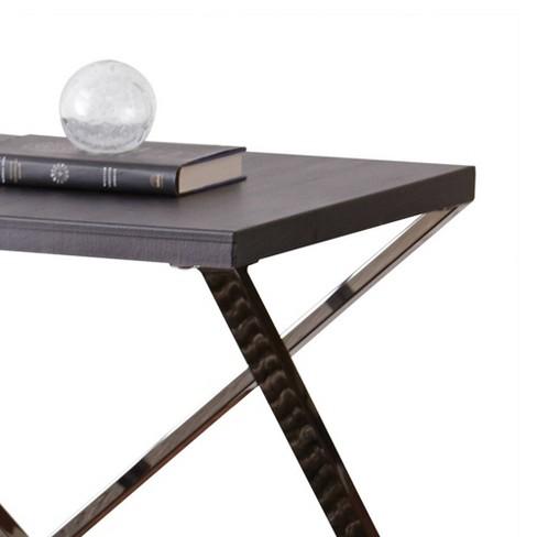 Brilliant Aegean End Table Silver Shield And Nickel Steve Silver Machost Co Dining Chair Design Ideas Machostcouk