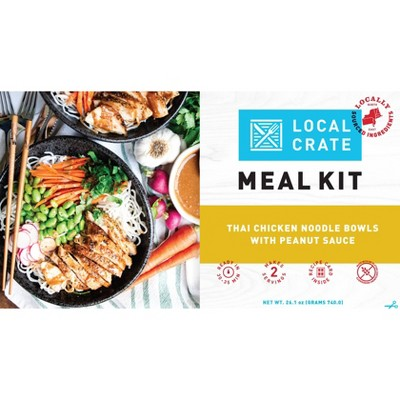 Local Crate Thai Chicken Noodle Bowls with Peanut Sauce Meal Kit - Serves 2 - 26.1oz