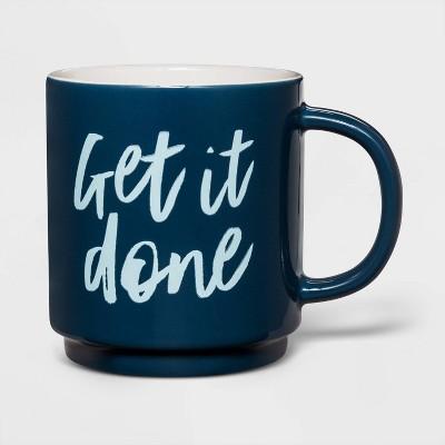 16oz Stoneware Get It Done Mug Blue - Threshold™