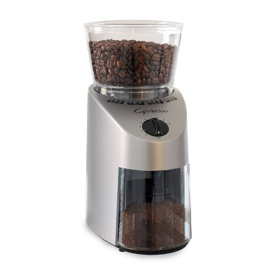 Capresso Conical Burr Coffee Grinder Infinity - Silver 560.04