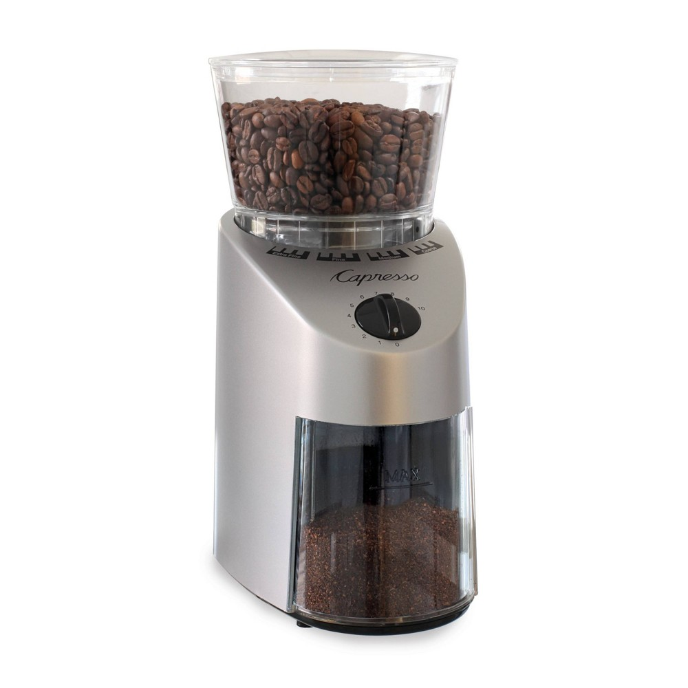 Image of Capresso Infinity Conical Burr Coffee Grinder Silver 560.04