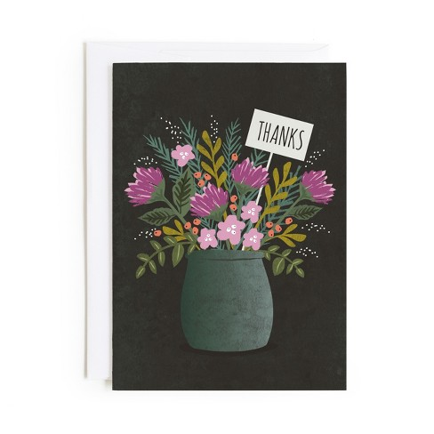 Minted Bouquet Of Thanks Card - image 1 of 1
