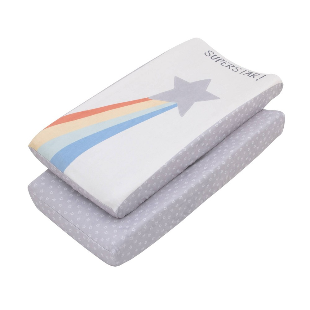 Image of NoJo Little Love Super Stars Super Soft Changing Pad Covers - 2pc