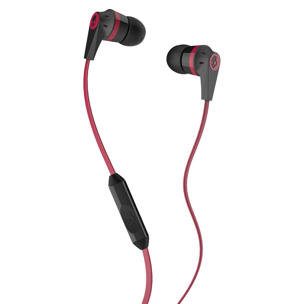 Skullcandy Ink'd Mic'd Earphones with Mic - Black/Red