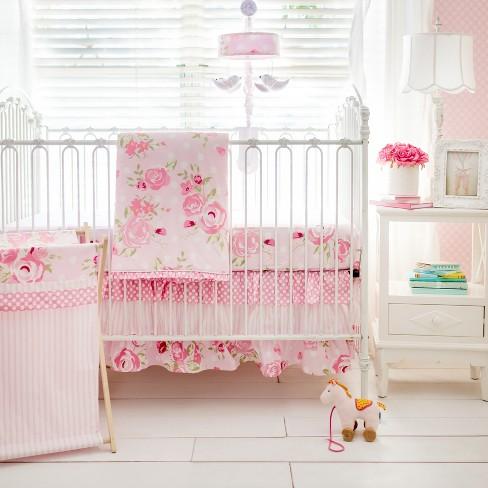 Crib Bedding Set My Baby Sam White Pink : Target