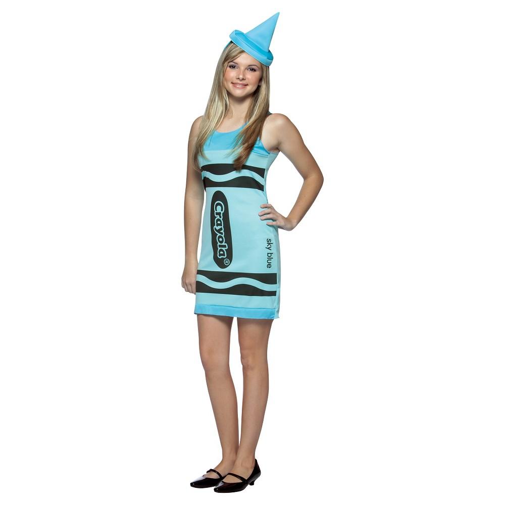 Juniors' Crayola Sky Tank Dress Costume 13-16, Girl's, Sky Blue