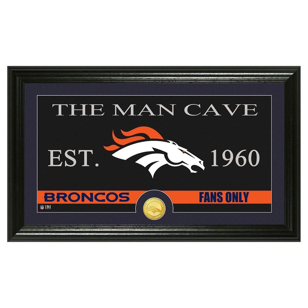 The Highland Mint NFL Man Cave Framed Wall Poster Print Denver Broncos