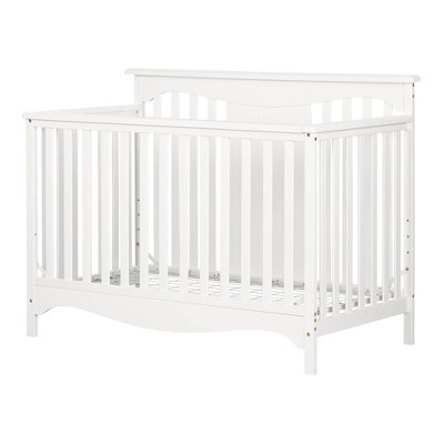 Savannah Baby Crib 4 Heights with Toddler Rail - Pure White - South Shore