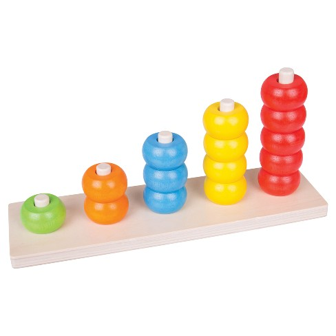 Bigjigs Toys Count and Stack Wooden Educational Toy - image 1 of 3