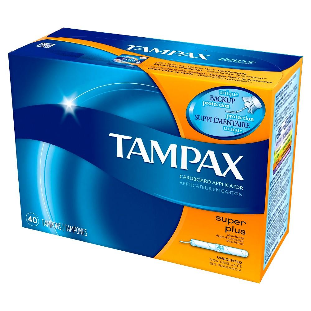 Tampax Tampons - Super Plus Absorbency - Cardboard - 40ct