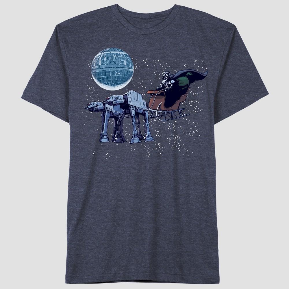 Toddler Boys' Star Wars Darth Short Sleeve T-Shirt - Navy 5T, Blue