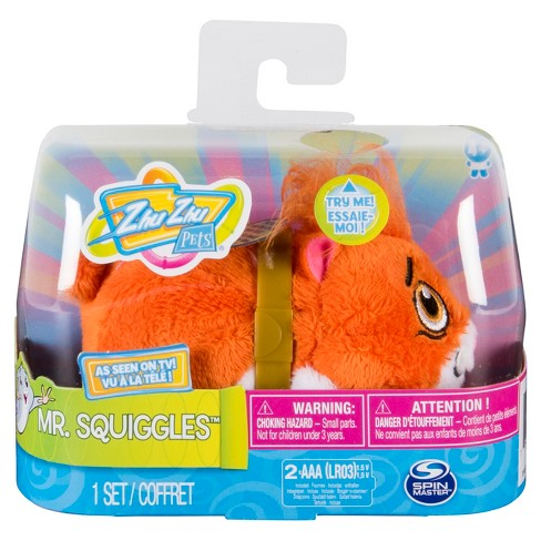"""Zhu Zhu Pets - Mr. Squiggles, Furry 4"""" Hamster Toy with Sound and Movement - image 1 of 4"""