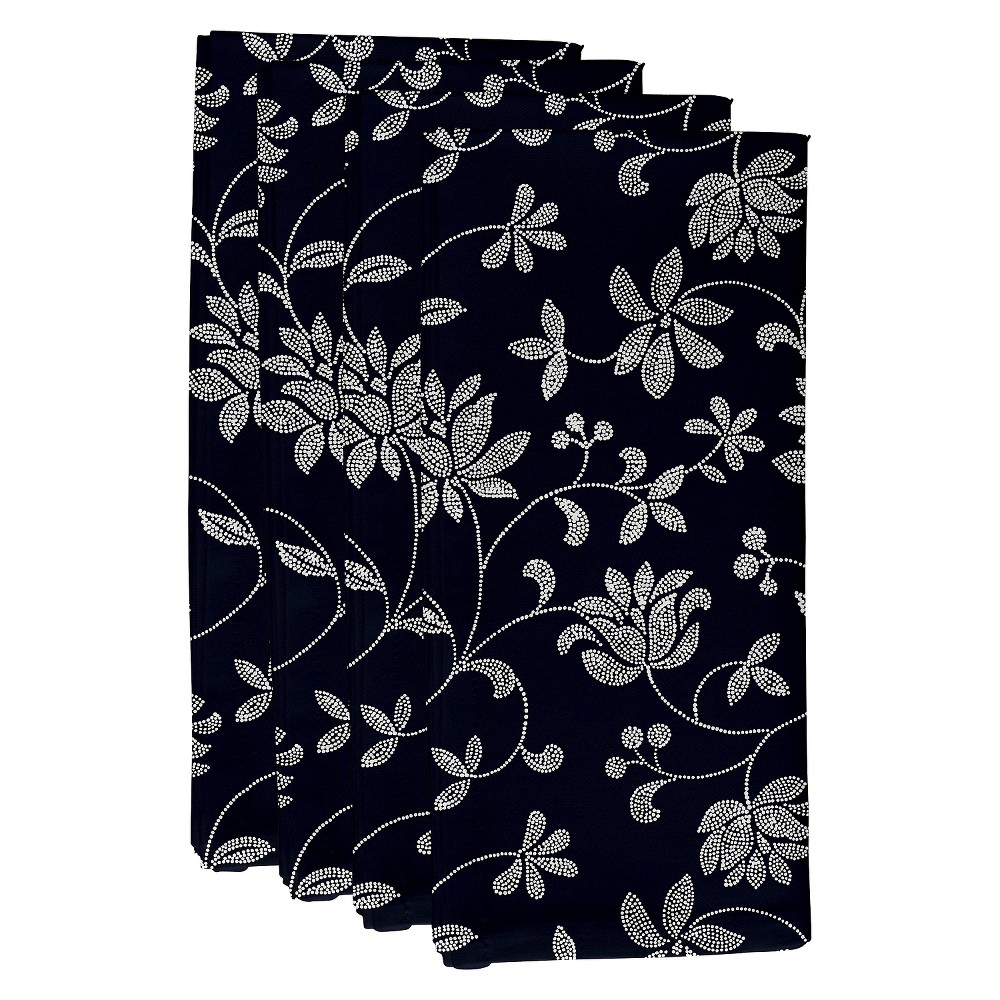 """Image of """"Blue Traditional Floral Print Napkin Set (19""""""""X19"""""""") - E By Design"""""""