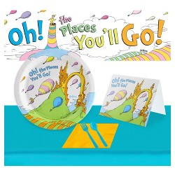 Dr. Seuss Oh The Places You'Ll Go Party Kit For 48