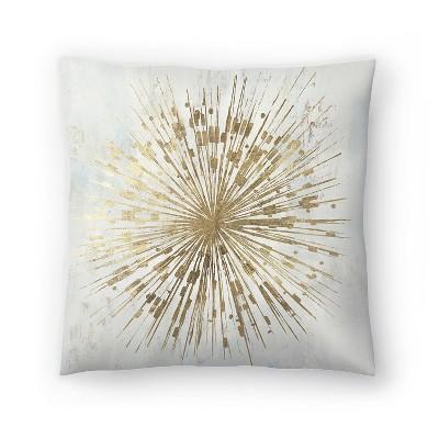 Americanflat Golden Star by Pi Creative Art Throw Pillow