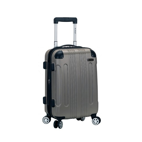 """Rockland Sonic 20"""" Expandable Hardside Carry On Suitcase - Silver - image 1 of 4"""
