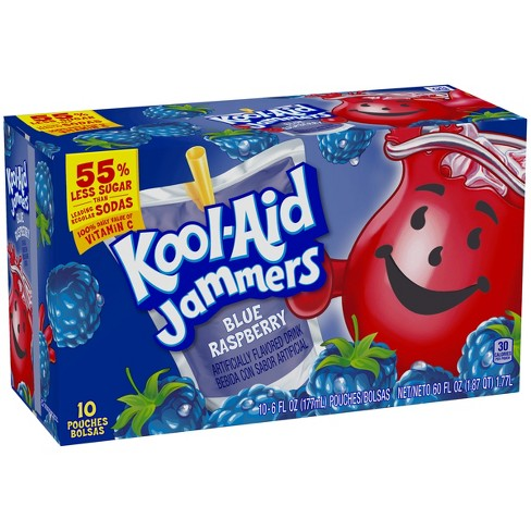 Kool-Aid Jammers Blue Raspberry Juice Drinks - 10pk/6 fl oz Pouches - image 1 of 5