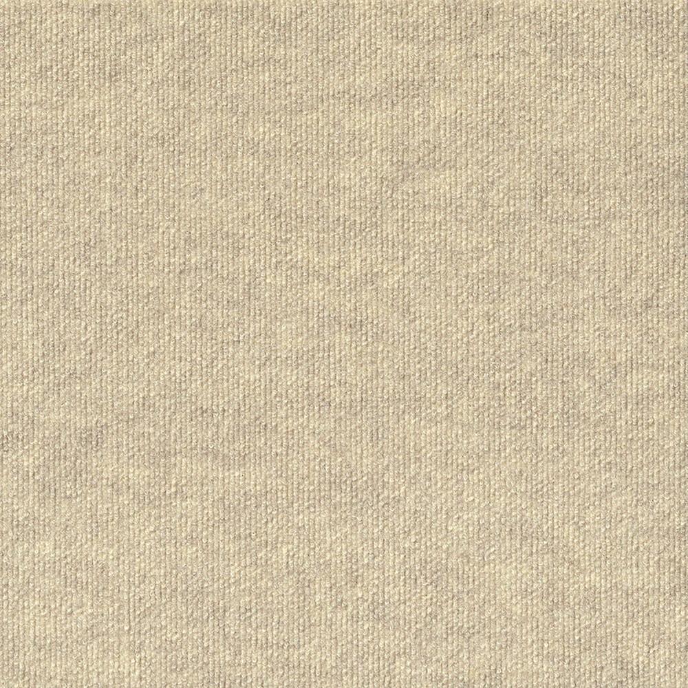 10pk Rib Extreme Carpet Tiles Ivory