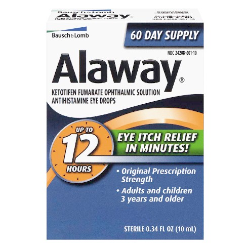 Allergy Eye Drops >> Alaway 12 Hours Allergy Eye Itch Relief 0 34 Fl Oz Target