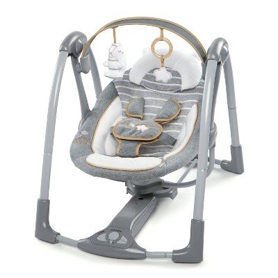 Ingenuity Boutique Collection Swing Go Portable Swing -  Bella Teddy