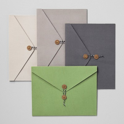 Envelope Single Pocket Canvas/Paper Folders with Closure - Set of 4 - Hearth & Hand™ with Magnolia