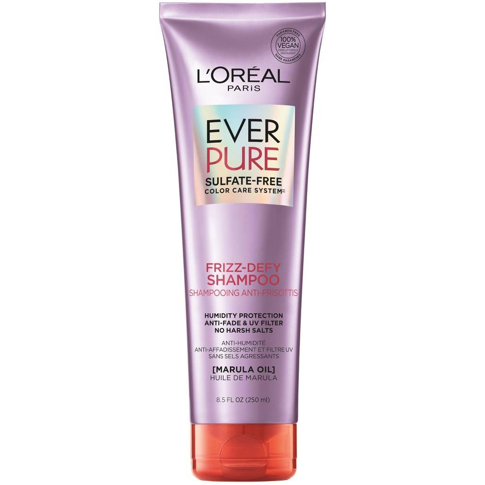 L Oreal Paris Everpure Sulfate Free Frizz Defy Shampoo 8 5 Fl Oz