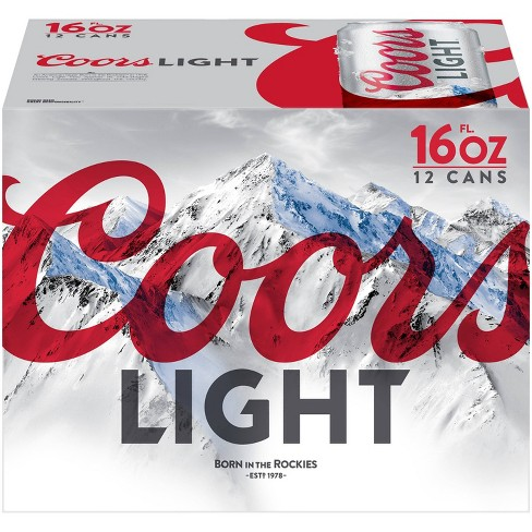Coors Light Beer - 12pk/16 fl oz Cans - image 1 of 4