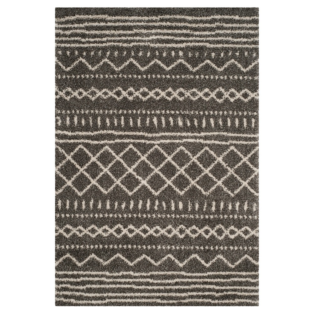 Brown/Ivory Solid Loomed Area Rug - (6'7