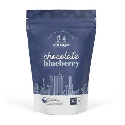 Chicago French Press Chocolate Blueberry Medium Roast Coffee - 8oz