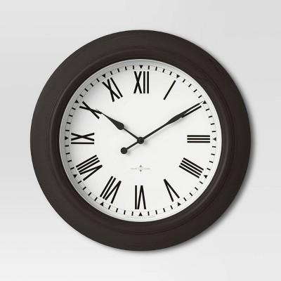 "20"" Wall Clock Black - Threshold™"