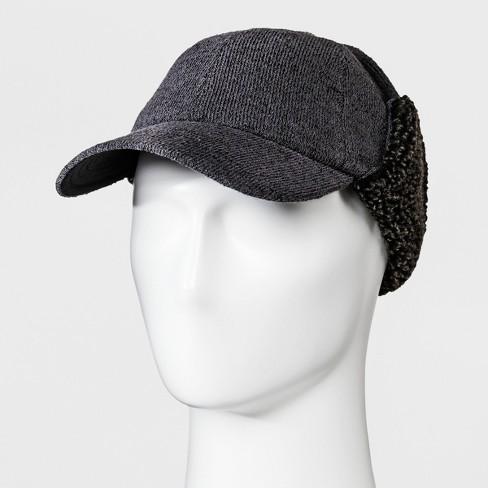 Men s Fleece Flap Baseball Hat - Goodfellow   Co™ Charcoal Heather ... 0097c454d81