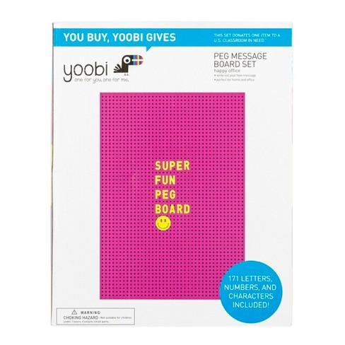 Peg Message Board Set Pink - Yoobi™ - image 1 of 3