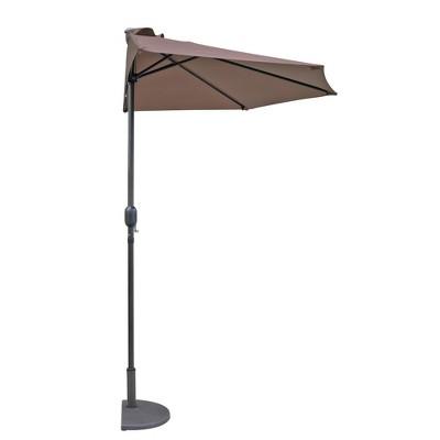 Lanai 9' Half Umbrella - Coffee - Island Umbrella