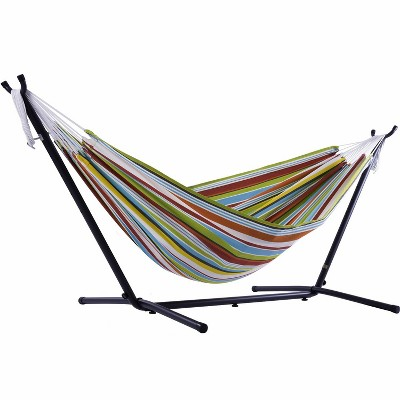 Vivere 9ft Polyester Hammock with Stand