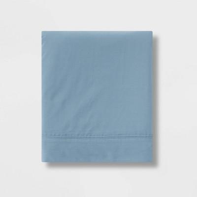 Queen 300 Thread Count Ultra Soft Flat Sheet Light Indigo - Threshold™
