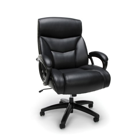 Big Tall Executive Leather Office Chair Black Ofm Target