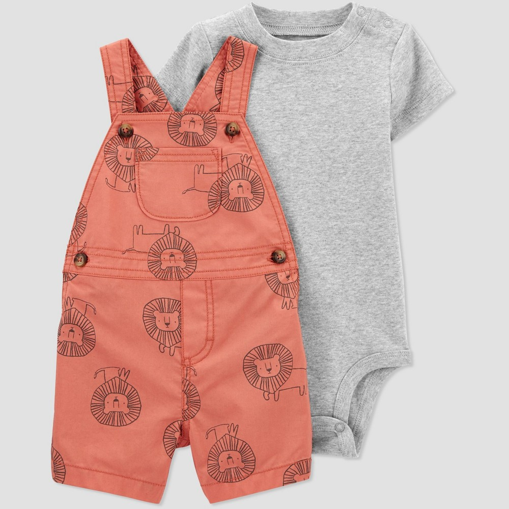 Baby Boys 39 Lion Top 38 Bottom Set Just One You 174 Made By Carter 39 S Red 12m