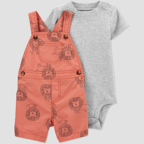 Baby Boys' Lion Top & Bottom Set - Just One You® made by carter's Red - image 1 of 4