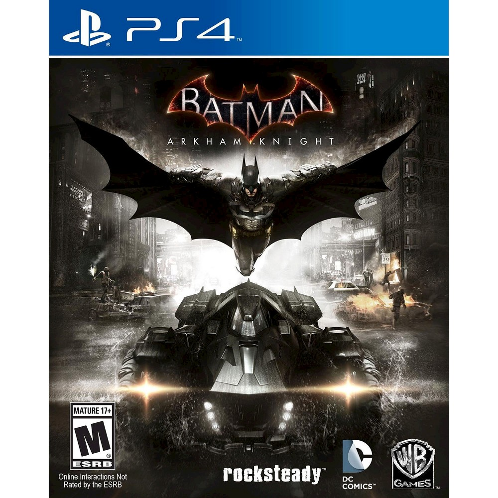 Batman: Arkham Knight Pre-Owned PlayStation 4 Save Gotham City in Batman: Arkham Knight Pre-Owned (PlayStation 4) - Microsoft. The game works for PlayStation 4 consoles. The pre-owned video game is in like-new condition and is recommended for ages 17 and older.