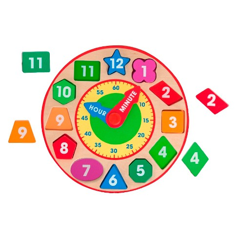 Melissa & Doug Shape Sorting Clock - Wooden Educational Toy - image 1 of 3