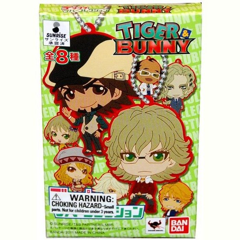 Blue fin Tiger & Bunny Rubber Collection Keychain Blind Packaging Single  Random