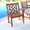 Vifah Outdoor Wooden Armchair - Brown - image 2 of 4