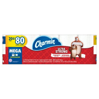 Charmin Ultra Strong Toilet Paper - 20 Mega Rolls