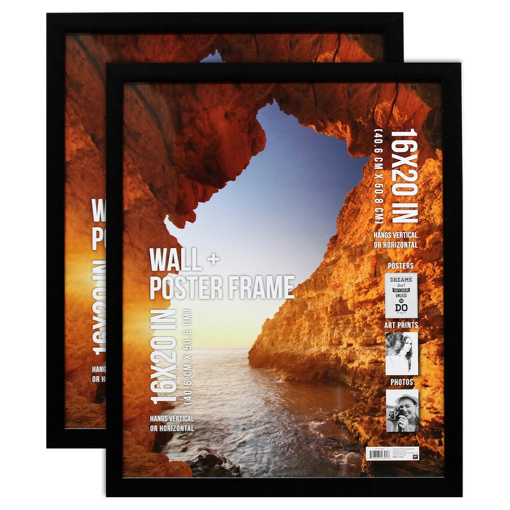 "Image of ""Poster Frame 1 Profile - Black - 2pk (16""""x20"""")"""