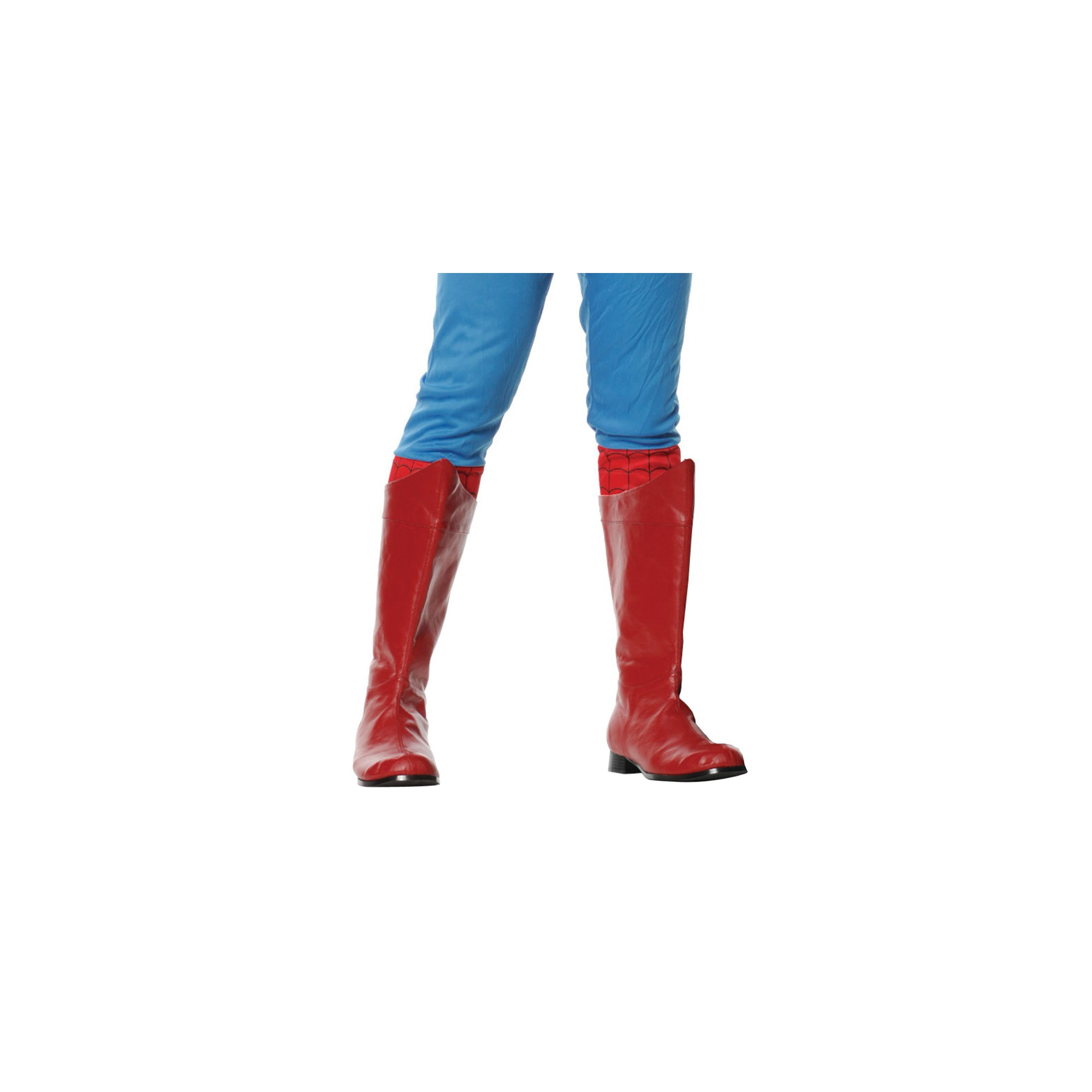 Halloween Adult Shazam Costume Boots Red Medium, Men's