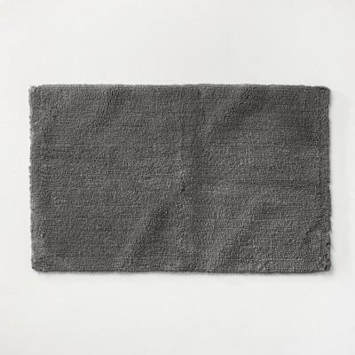 "21""x34"" Ultra Soft Tufted Bath Rug Dark Gray - Casaluna™"