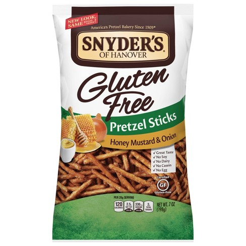 Snyders Gluten Free Honey Mustard & Onion Pretzel Sticks - 7oz - image 1 of 3