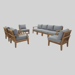 Marina 8pc Outdoor Patio Teak Set - Modway