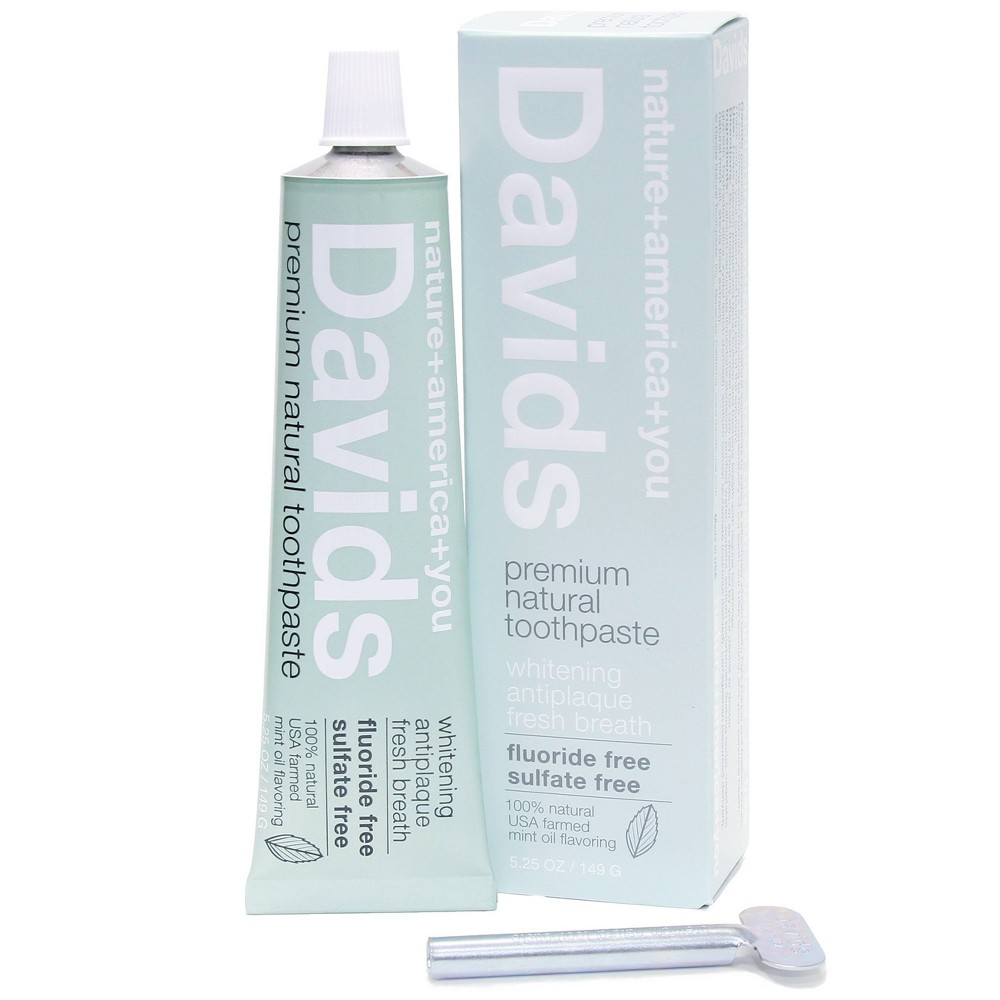 Image of Davids Premium Natural Toothpaste Peppermint - 5.25oz