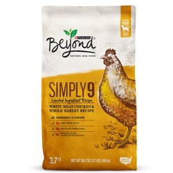 Purina Beyond Simply 9 White Meat Chicken and Whole Barley Dry Dog Food - 4lbs